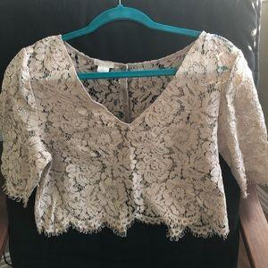 Jenny Yoo lace topper